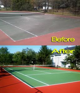 tennis court resurfacing - sweeping.com
