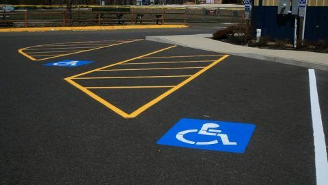 shopping center line striping - sweeping.com