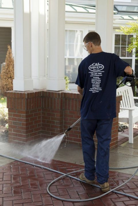 Power washing results - sweeping.com