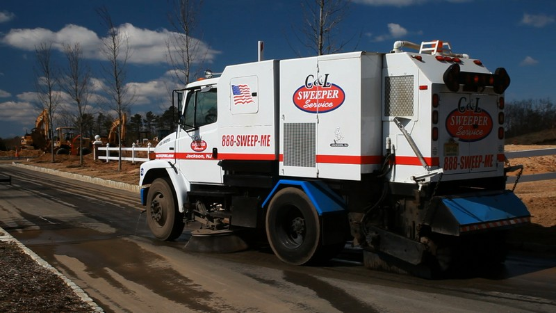construction sweeping -C&L sweeper - sweeping.com