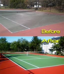 tennis court resurfacing - sweeping.com